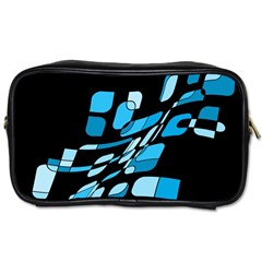 Blue Abstraction Toiletries Bags 2 Side by Valentinaart
