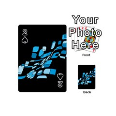 Blue Abstraction Playing Cards 54 (mini)  by Valentinaart