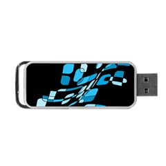 Blue Abstraction Portable Usb Flash (one Side) by Valentinaart