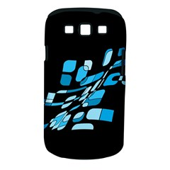 Blue Abstraction Samsung Galaxy S Iii Classic Hardshell Case (pc+silicone) by Valentinaart