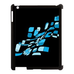 Blue Abstraction Apple Ipad 3/4 Case (black) by Valentinaart