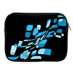 Blue Abstraction Apple Ipad 2/3/4 Zipper Cases