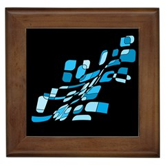 Blue Abstraction Framed Tiles by Valentinaart