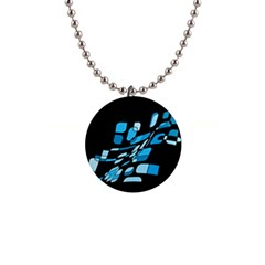 Blue Abstraction Button Necklaces by Valentinaart