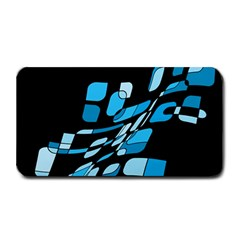 Blue Abstraction Medium Bar Mats