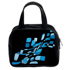 Blue Abstraction Classic Handbags (2 Sides) by Valentinaart