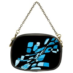 Blue Abstraction Chain Purses (two Sides)  by Valentinaart