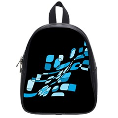 Blue Abstraction School Bags (small)  by Valentinaart