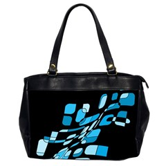 Blue Abstraction Office Handbags (2 Sides)  by Valentinaart