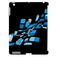 Blue Abstraction Apple Ipad 3/4 Hardshell Case (compatible With Smart Cover) by Valentinaart