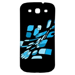 Blue Abstraction Samsung Galaxy S3 S Iii Classic Hardshell Back Case by Valentinaart