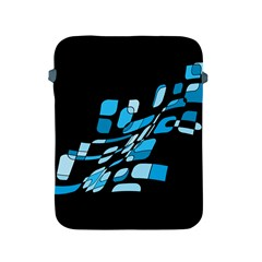 Blue Abstraction Apple Ipad 2/3/4 Protective Soft Cases by Valentinaart