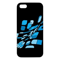 Blue Abstraction Iphone 5s/ Se Premium Hardshell Case by Valentinaart