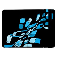 Blue Abstraction Samsung Galaxy Tab Pro 12 2  Flip Case by Valentinaart