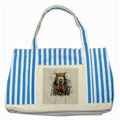 Guillotine Heart Striped Blue Tote Bag