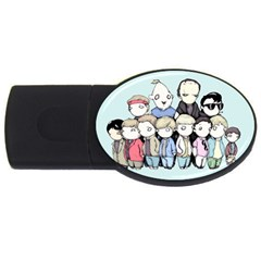 Goonies Vs Monster Squad Usb Flash Drive Oval (2 Gb)  by lvbart