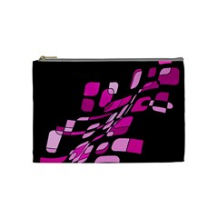 Purple Abstraction Cosmetic Bag (medium)  by Valentinaart
