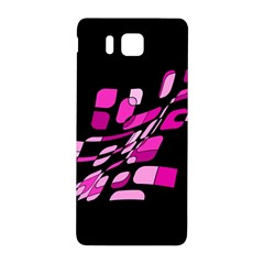 Purple Abstraction Samsung Galaxy Alpha Hardshell Back Case by Valentinaart