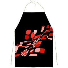 Orange Abstraction Full Print Aprons by Valentinaart