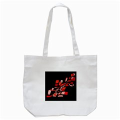 Orange Abstraction Tote Bag (white) by Valentinaart