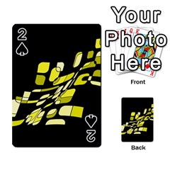 Yellow Abstraction Playing Cards 54 Designs  by Valentinaart