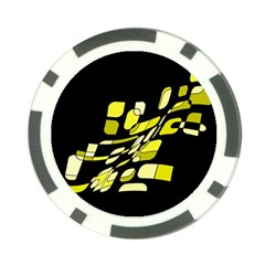Yellow Abstraction Poker Chip Card Guards (10 Pack)  by Valentinaart