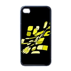 Yellow Abstraction Apple Iphone 4 Case (black) by Valentinaart