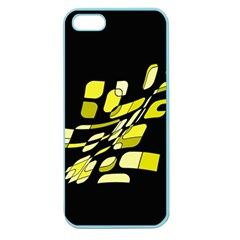 Yellow Abstraction Apple Seamless Iphone 5 Case (color) by Valentinaart