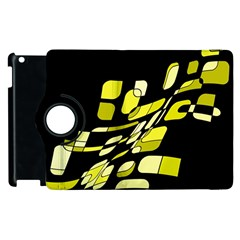 Yellow Abstraction Apple Ipad 3/4 Flip 360 Case by Valentinaart