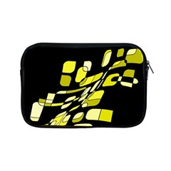 Yellow Abstraction Apple Ipad Mini Zipper Cases by Valentinaart