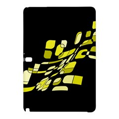 Yellow Abstraction Samsung Galaxy Tab Pro 10 1 Hardshell Case by Valentinaart