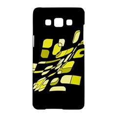 Yellow Abstraction Samsung Galaxy A5 Hardshell Case  by Valentinaart