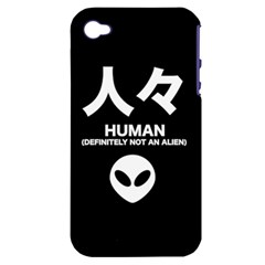 Not An Alien Apple Iphone 4/4s Hardshell Case (pc+silicone) by itsybitsypeakspider