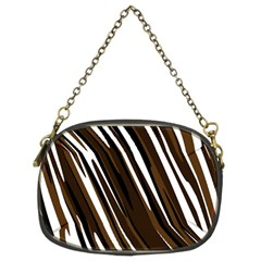Black Brown And White Camo Streaks Chain Purses (two Sides)  by TRENDYcouture