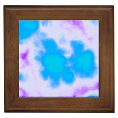 Blue And Purple Clouds Framed Tiles by TRENDYcouture