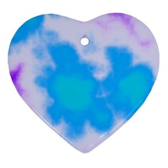 Blue And Purple Clouds Heart Ornament (2 Sides) by TRENDYcouture