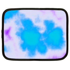 Blue And Purple Clouds Netbook Case (xl)  by TRENDYcouture