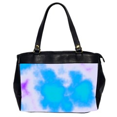 Blue And Purple Clouds Office Handbags (2 Sides)  by TRENDYcouture