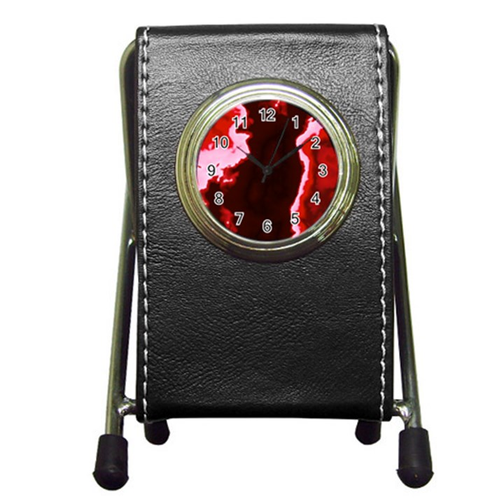 crimson sky Pen Holder Desk Clocks
