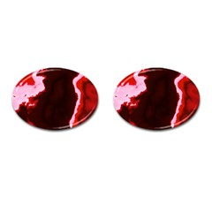 Crimson Sky Cufflinks (oval) by TRENDYcouture