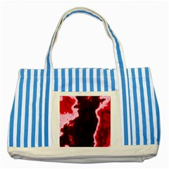 Crimson Sky Striped Blue Tote Bag by TRENDYcouture