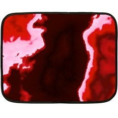 crimson sky Double Sided Fleece Blanket (Mini)