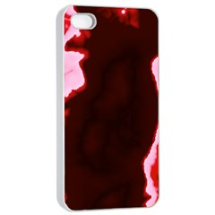 crimson sky Apple iPhone 4/4s Seamless Case (White)