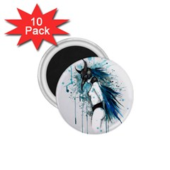 Caged Bird 1 75  Magnets (10 Pack)  by lvbart