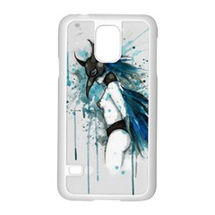 Caged Bird Samsung Galaxy S5 Case (white) by lvbart