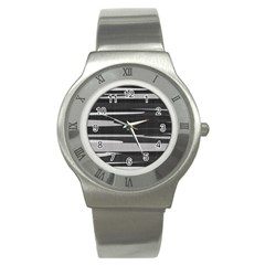 Gray Camouflage Stainless Steel Watch by TRENDYcouture
