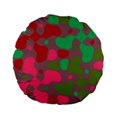 Spots                                                                                	standard 15  Premium Flano Round Cushion by LalyLauraFLM