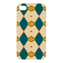 Blue Yellow Rhombus Pattern                                                                                 Apple Iphone 4/4s Hardshell Case by LalyLauraFLM
