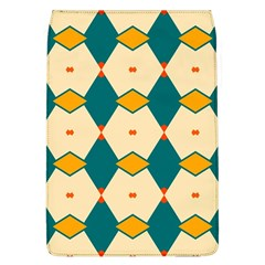 Blue Yellow Rhombus Pattern                                                                                 			removable Flap Cover (l) by LalyLauraFLM