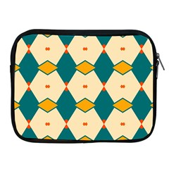 Blue Yellow Rhombus Pattern                                                                                 			apple Ipad 2/3/4 Zipper Case by LalyLauraFLM